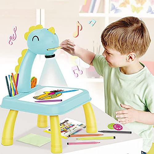 Xiauyu - Proyector de dibujo para niños, diseño de traza y dibujo, juguete con luz y música, escritorio de bocetos con proyector inteligente, máquina de pintura de proyección para niño de 3 a 8 años