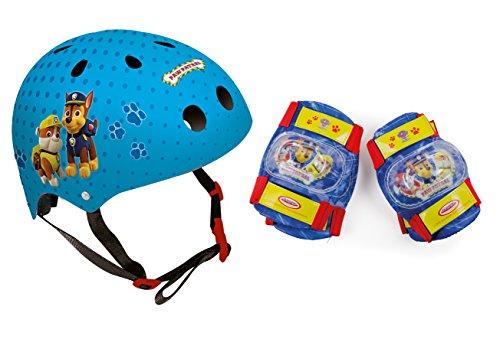 PAW PATROL Jungen 318 Helmet + 2 Set Pads, Blue, S