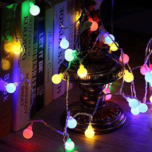 50 LED Cadena Luces, 5m Guirnaldas Luces Pilas Decorativas, Luz Luminosas para Interior, Jardines, Habitacion, Boda, Fiesta de Navidad (Multicolor)