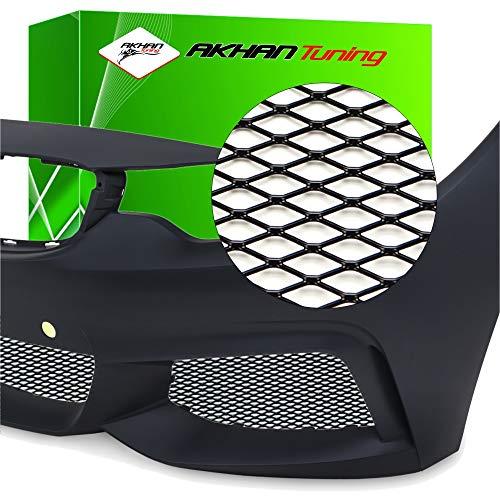 G97 - NEGRO Alu Mesh Race malla Raza parrilla de malla Rejilla de aluminio para coche para el parachoques, spoiler, rejilla de ventilación