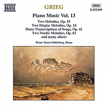 Grieg: Piano Transcriptions of Songs, Op. 41 / Nordic Melodies, Op. 63