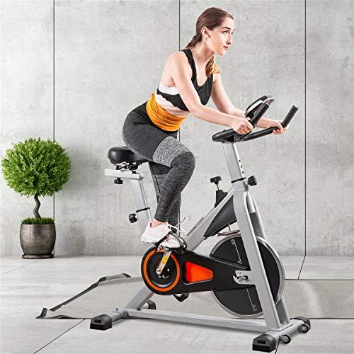MORNOR Bicicleta de Ciclismo para Interiores, Correa para Conducir, Bicicleta estática de Spinning, Monitor LCD con Soporte para Tableta iPad para Entrenamiento Cardiovascular en casa, Gimnasio: Amazon.es: Deportes y aire libre