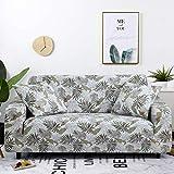 WXQY Fundas con Estampado Floral Funda de sofá elástica elástica Funda de sofá con protección para Mascotas Funda de sofá con Todo Incluido en Forma de L A27 4 plazas