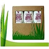 Forever living tripack 3x1 litro aloe vera gel sabor arándano manzana et melocotón pulpa 100% natural zumo puro para beber. (Aloe berry nectar)