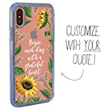 Guard Dog Custom Clear Cases for iPhone X/XS – Personalized Quote – Put Your...