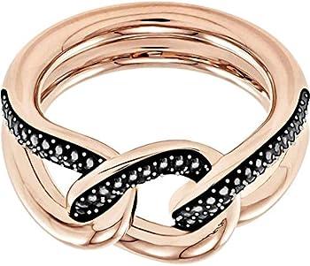 Swarovski Lane 18K Rose Gold-Plated Women's Ring