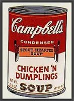 ポスター アンディ ウォーホル Sunday B Morning キャンベル缶Ⅱ Chickin Dumplings 限定1500枚 額装品 ウッドベーシックフレーム(ブラック)
