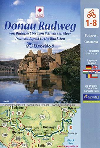 EuroVelo 6: Donau Radweg (Budapest - Schwarzes Meer): 8 Fahrradkarten in einem Set / Cycle Map Set (8 Maps) 1:100 000: Von Budapest bis zum Schwarzen Meer