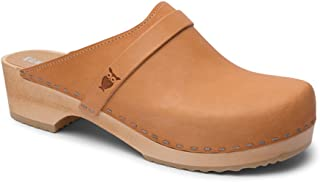 Sandgrens Swedish Wooden Clogs for Men with Leather Upper | Malmö