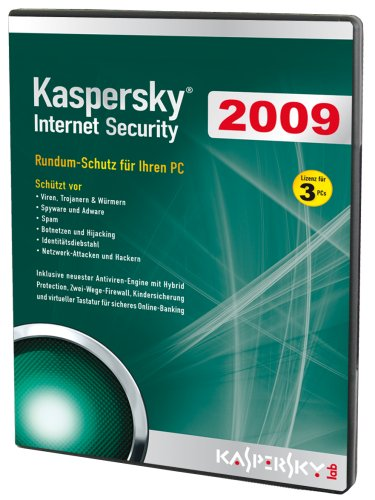 Kaspersky Internet Security 2009 (Lizenz für 3 PCs/DVD-Box) [import allemand]