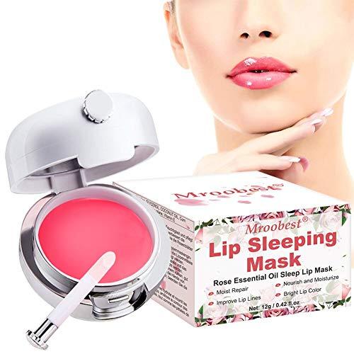 Lip Collagen, Lip Care Mask, Sleep Lip Mask, Lip Plumper, Increase Lip Elasticity, Reduce Fine Lines, Nourishing & Hydrating Lips