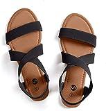 Rekayla Flat Elastic Sandals for Women Black 09
