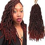 Nu Locs Crochet Braids 18inch Most Natural Faux Locs Crochet Braid 6 Packs/lot Goddess 100% Premium Fiber Synthetic Hair African Roots Hair Extensions (18'' 6Pcs-MBUG) …