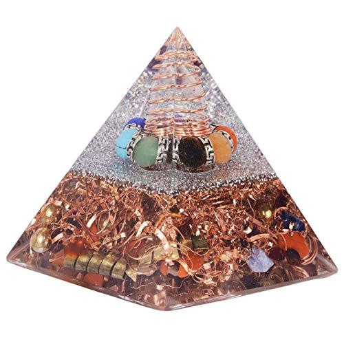 ZTTT Steinpyramideharz-Metalldraht-Kristallpunkt