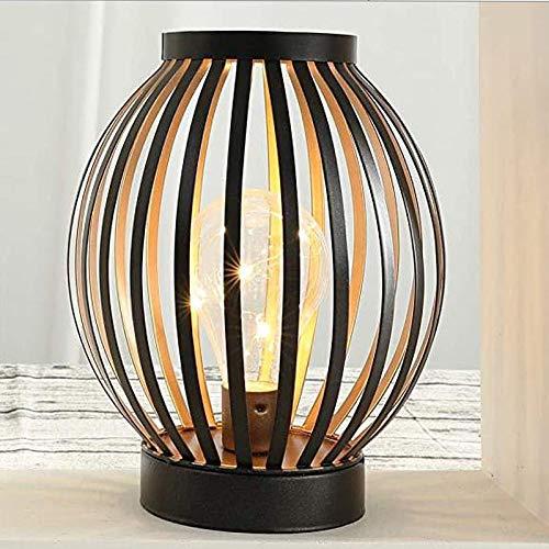 Dekorative Lampe, 22 cm hoch, batteriebetrieben, kabellos, mit LED-Edison-Glühbirne, ideal für Hochzeiten, Partys, Terrassen, Veranstaltungen im Innen- und Außenbereich