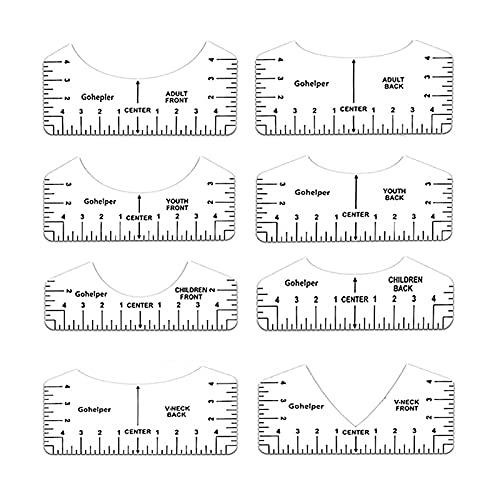 Regla de alineación de camisetas para hacer camisetas con diseño de centro de camiseta, guía para aplicar vinilo y diseño de...