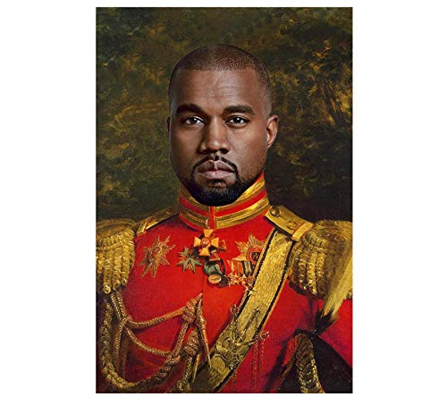 Sanwooden Kanye West Poster - Funny Celebrity Poster Wall Art Canvas Painting Picture Posters and Prints Print On Canvas -60x90cm No Frame