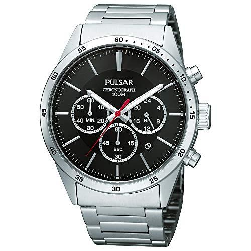 Pulsar Sport Herren-Uhr Chronograph Edelstahl mit Metallband PT3005X1