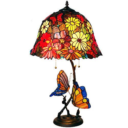 MGWA Lámpara de Mesa 16 Pulgadas Tiffany Lámpara De Mesa LED Jardín Decoración del Hogar Lámpara De Mesa Sala De Estar Lámpara Sun Flower