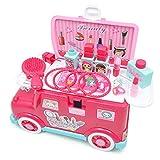 Bixialan Tocador para niños Pretend Makeup Kit de Maquillaje for niños Que Incluye Vanity Pretend Play Set Set de Maquillaje for niñas Niñas (Color : Pink, Size : 30x15x16.5cm)