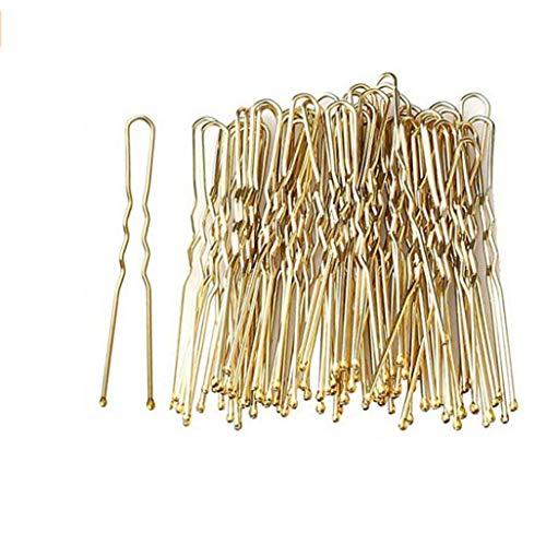 Lot de 50 épingles à cheveux longues pour tous les types de cheveux Blond