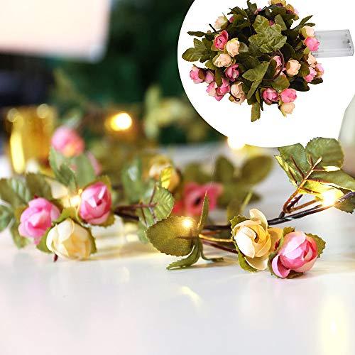Lichterkette,FeiliandaJJ 2M Grünes Blatt Blume Licht Lichterkette LED Licht Hochzeit Party Weihnachten Halloween Innen/Außen Haus Deko String Lights (Mehrfarbig)