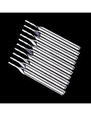 """Molino de Hilo Resistente al Desgaste 10 unids 1/8""""1 mm Doble Flauta Espiral carburo Plana Nariz Plana Extremo Cerveza CNC Router bits 5mm CEL"""