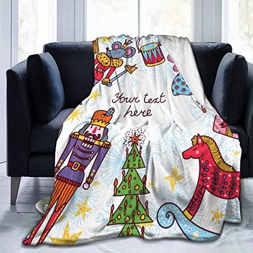 VORMOR Soft Fleece Überwurfdecke,Nussknacker,Home Hotel Bed Couch Sofa Überwurfdecken für Paare Kinder Erwachsene,75x125cm