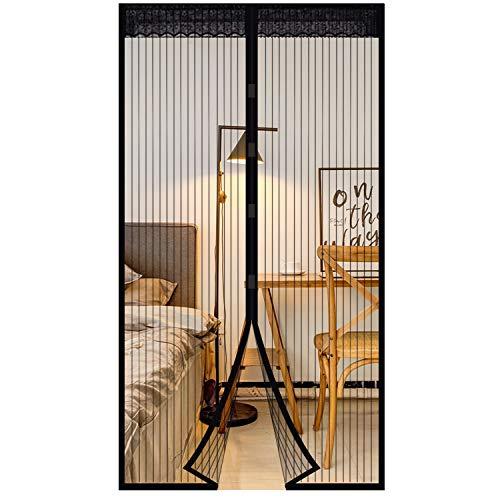 Extsud Mosquitera Magnética para Puertas 120 x 220cm Cortina Protección contra Insectos para Puerta de Balcón Sala de Estar Puerta de Patio Pegado sin Taladrar, Negro