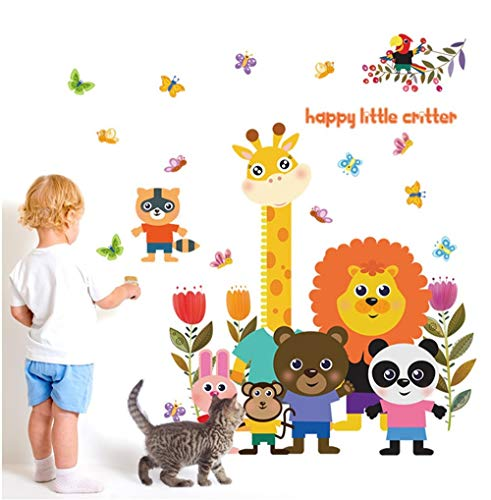 QTXINGMU Stickers Muraux Stickers pour Petits Animaux Salon Salle À Manger Canapé Télévision Porche Autocollants Muraux Décoratifs D'Arrière-Plan