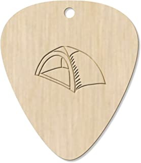7 x 'Camping Tent' Guitar Picks / Pendants (GP00015176)