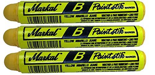 3 Markal B Yellow Tire Chalk Paint Sticks Crayon Surface Marker Graffiti Art
