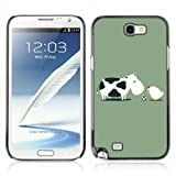 CelebrityCase Polycarbonate Hard Back Case Cover for Samsung Galaxy Note 2 II ( Cow, Chicken & Egg Funny )