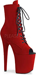 Pleaser | Amuse 48, 5 Inch Peep Toe Lace Bootie