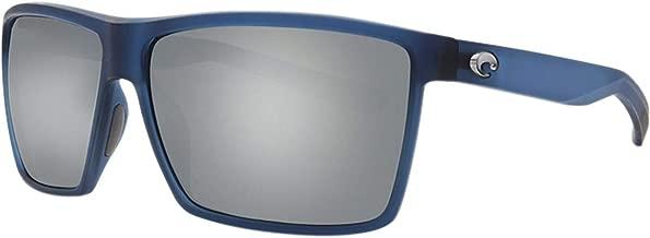 Costa Del Mar Costa Del Mar RIN177OSGGLP Rincon Gray Silver Mirror 580G Matte Atlantic Blue Frame Rincon, Matte Atlantic Blue Frame, Gray Silver Mirror 580G