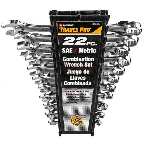 Tradespro 836574 SAE – Juego de llaves métricas (22 piezas)