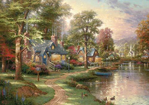 Schmidt Spiele 57452 Thomas Kinkade, Am See, 1500 Teile Puzzle, bunt