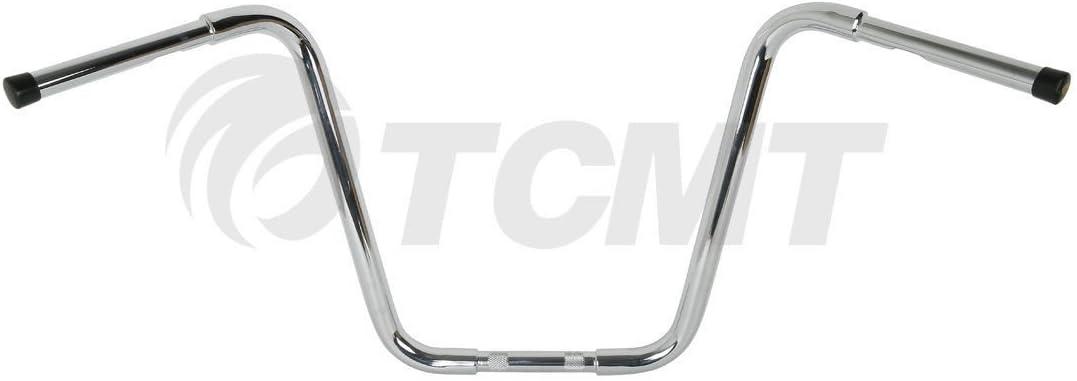 TCMT Chrome 10 Rise 1-1//4 Hanger Bar Handlebar Fits For Harley Davidson Sportster XL