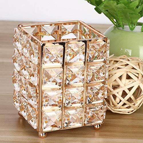 Yqs Organisateur de Maquillage Mode for Dames Pinceau de Maquillage Porte-cosmétique Crayon Sourcils Boîte de Rangement (Color : Gold)