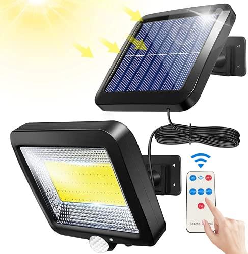 Bizcasa Applique Solare 100 LED Separabile, Lampade solari per esterni, Luce Solare con Sensore di Movimento,Luci Solari, luci solari da giardino con sensore di movimento