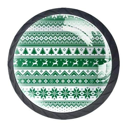 Manijas para cajones Perillas para gabinetes Perillas Redondas Paquete de 4 para armario, cajón, cómoda, cómoda, etc.. Verde escandinavo nórdico