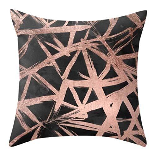 Dashun Funda de Almohada Cuadrada con Estampado geométrico a Doble Cara Funda de cojín Decorativa de Piel de melocotón