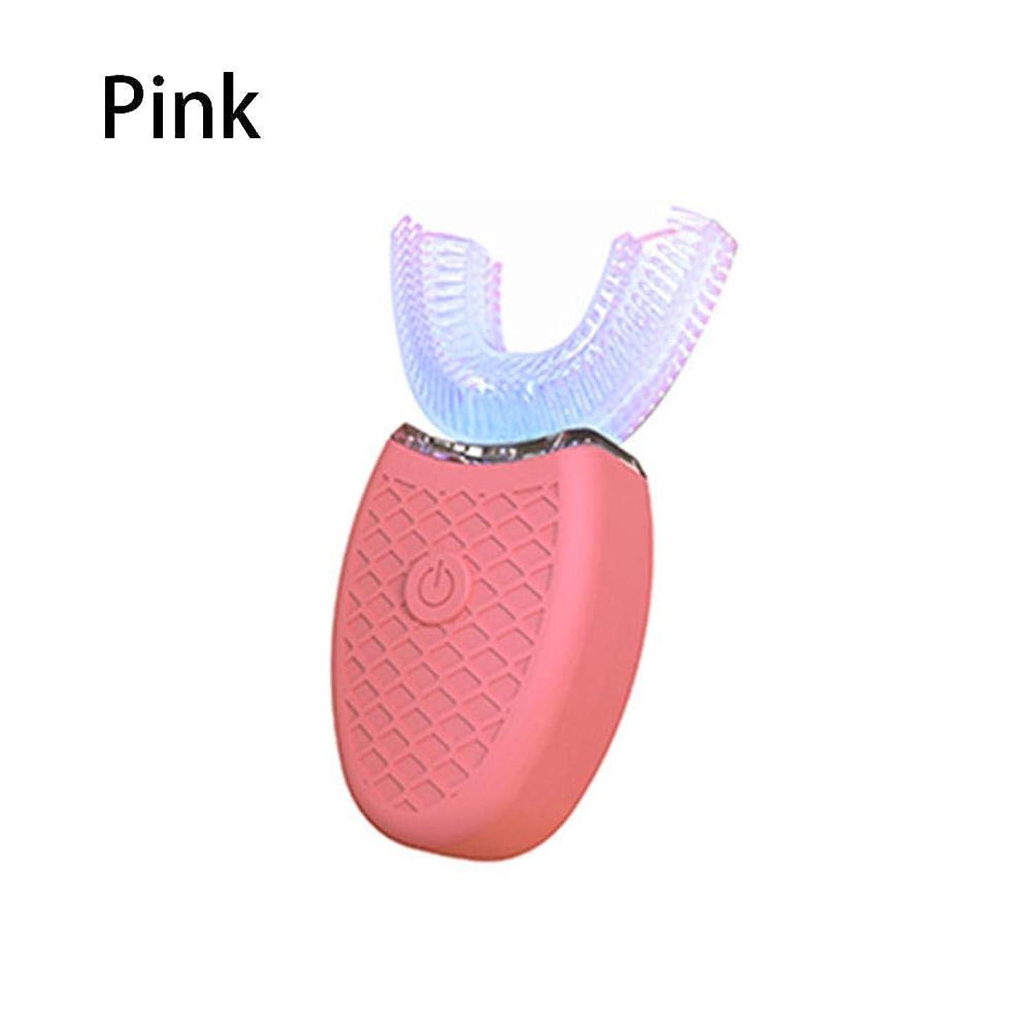 U型電動歯ブラシ超音波自動歯ブラシ 360°包囲清掃歯 怠け者歯ブラシ USB充電 IPX7防水 自動歯ブラシ