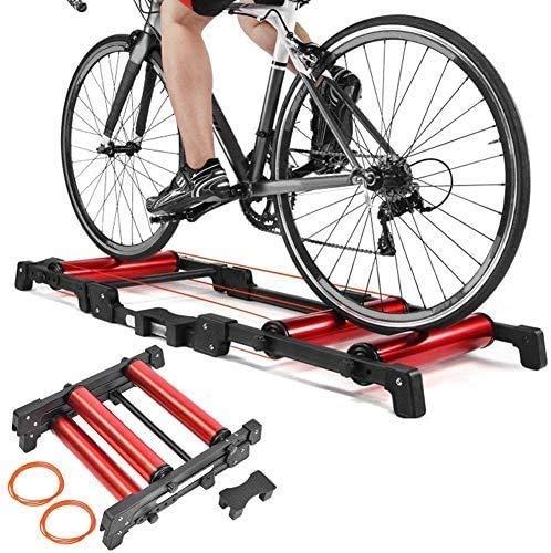 YZPJSQ Vélo Formateur Stand GT-03 Intérieur Rouleau réglable Vélo Plate-Forme Route de Formation Support à vélos Équipement, Rouge