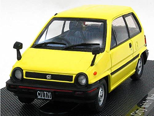 EBRRO 1 43 44017 Honda City   Motokonpo 1981 jaune (japan import)