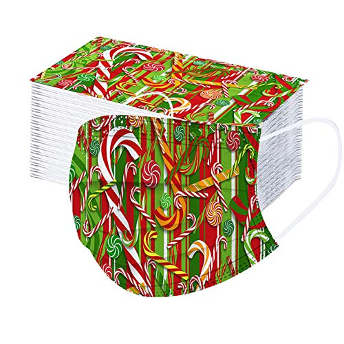 LSAltd 100pcs Gesichtsbedeckung Weihnachten Erwachsene Multifunktionstuch Einweg...
