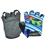 LKXL Handschuh Spot Männer und Frauen Kinderhandschuhe Sommer atmungsaktiv rutschfeste halbe Finger Kinder Reithandschuhe