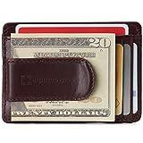 Alpine Swiss Dermot Mens RFID Safe Money Clip Minimalist Wallet Smooth Leather Comes in Gift Box Burgundy
