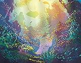GOCHAN Kit de pintura de diamante 5D DIY,Animales marinos bajo el agua con arrecifes de coral y acuario de peces de colores Imprimir,Pintura de diamante para decoración de pared del hogar Arte