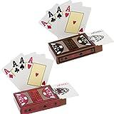 Howay 2x Texas holdem Poker Playing Cards–Tarjetas de poker Tarjetas de plástico parte resistente al agua de PVC Profesional Premium parte Tarjetas